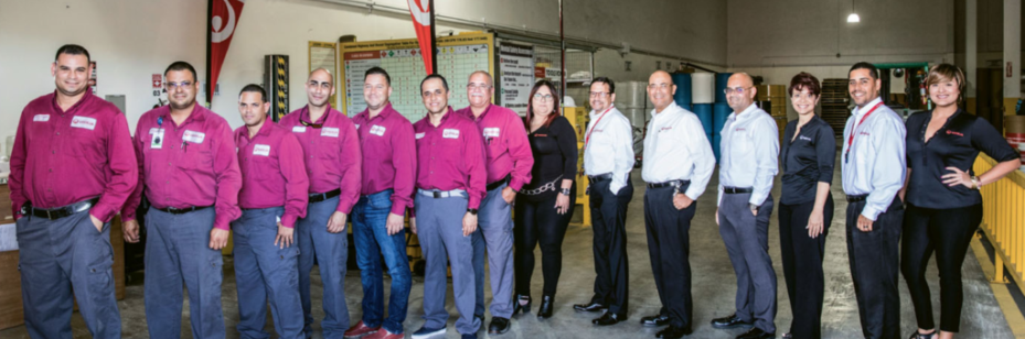 Veolia Puerto Rico's waste management team.